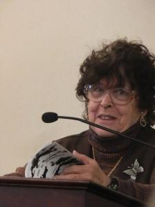 The illustrious leader of the Massachusetts Poetry Society Jeanette Maes.